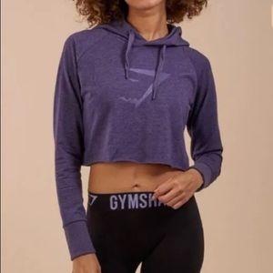 NWOT🦈 Gym Shark Cropped Hoodie Purple gym